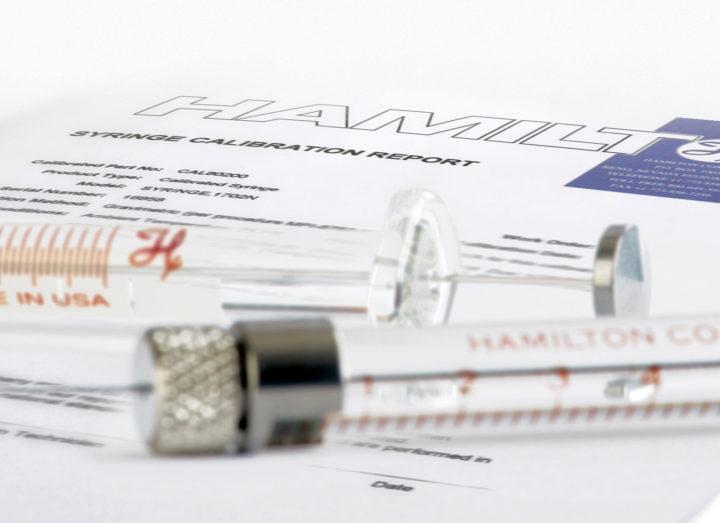 Syringe Syringe And Calibration Certificate