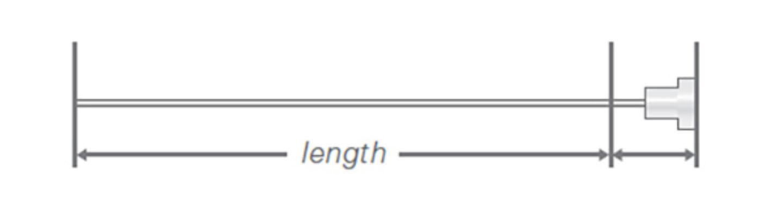 Needle Length Hat Needle Hub