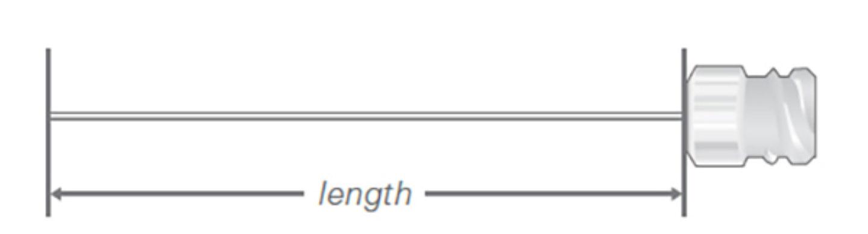 Needle Length Kel F Hub