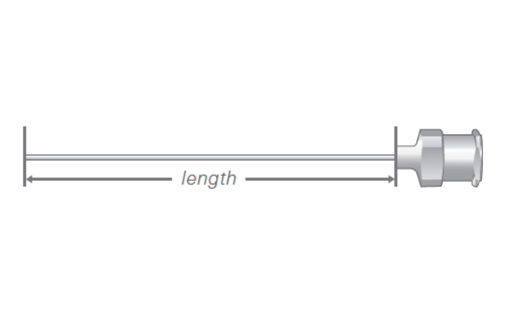 Needle Length Metal Hub